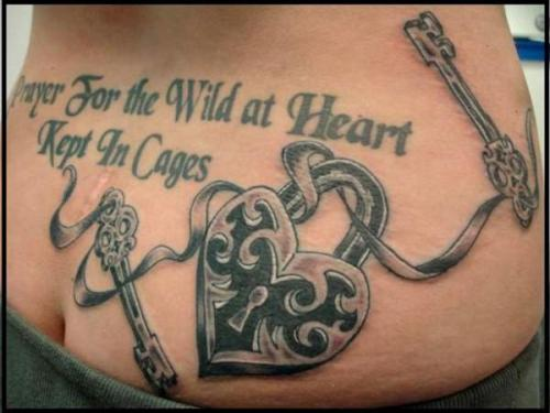 Lock and key tattoos for men