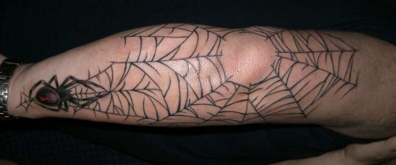 86bddfdee 18 Spider Web Tattoos With Dark and Light Meanings - Tattoos Win