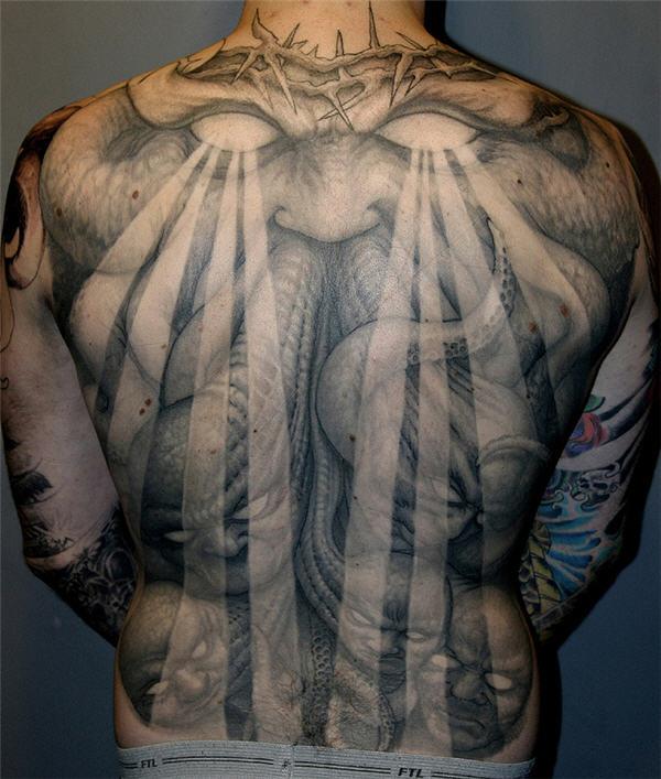 danny trejo chest tattoo
