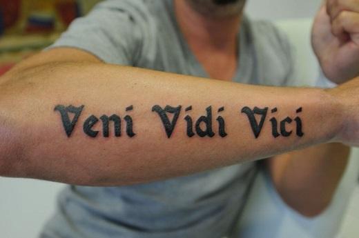 Veni Vidi Vici Tattoo