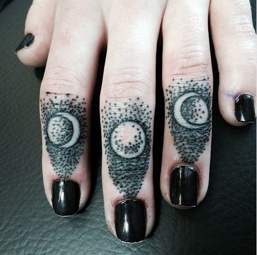 Moon phase tattoos with meanings
