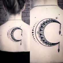 Crescent moon tattoos with meanings