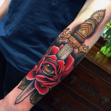 Dagger tattoos with meanings