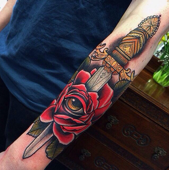 Understanding the meanings behind the dagger tattoo for Knife tattoo meaning