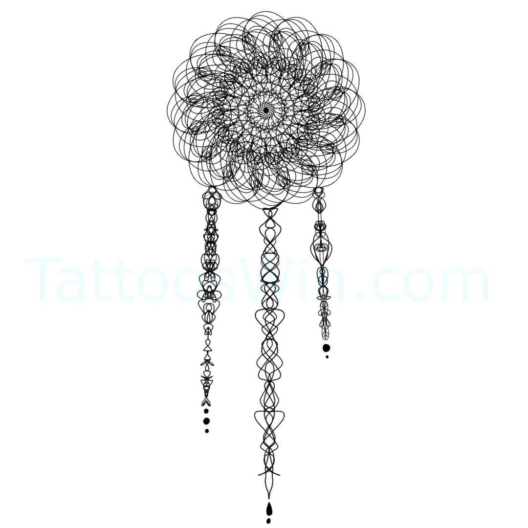 Original Dream Catcher Tattoo Design.