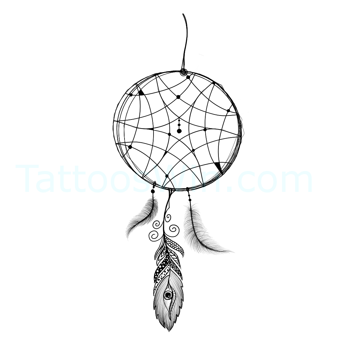 DreamCatcher Eye Tattoo Design.