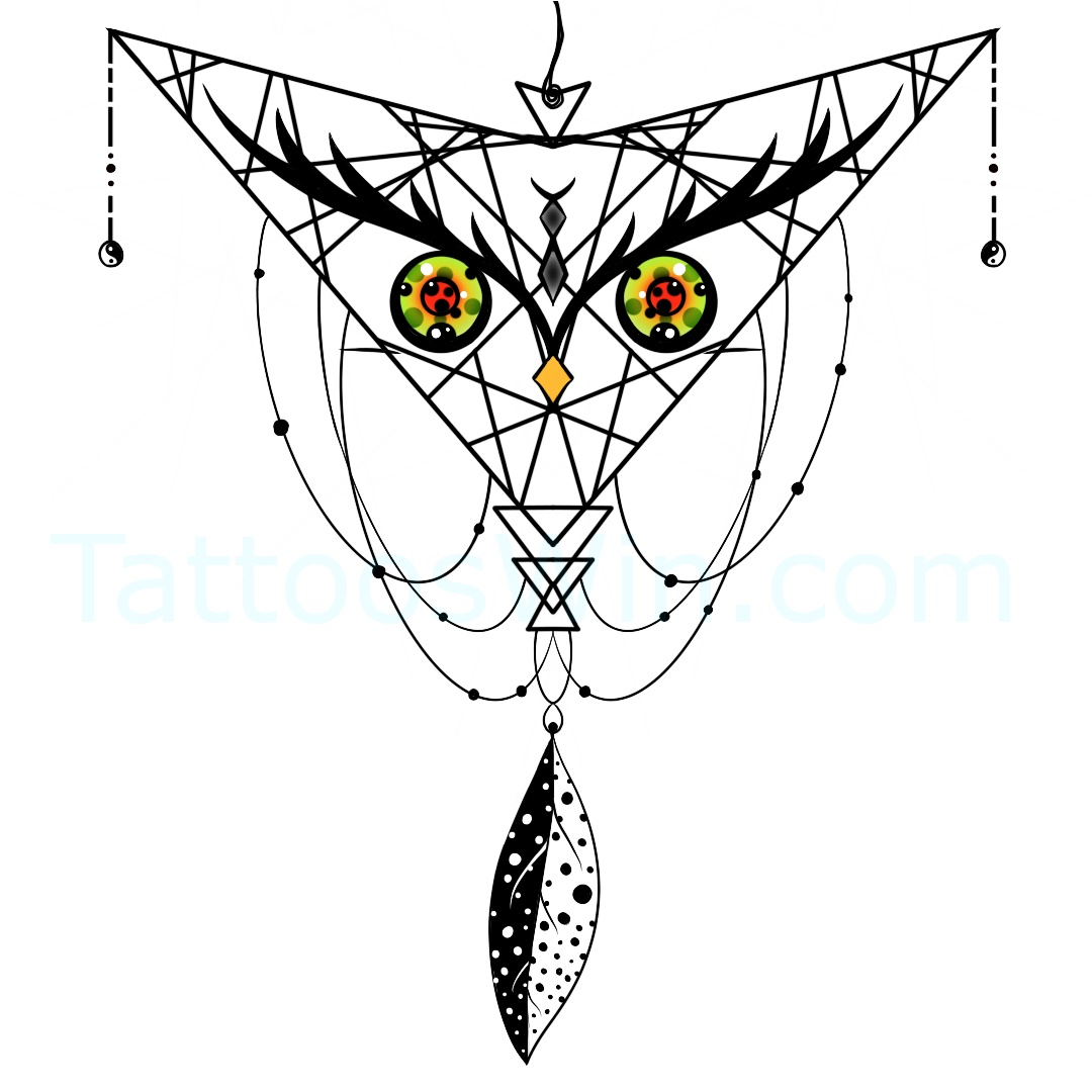 Dreamcatcher Tattoo Design.