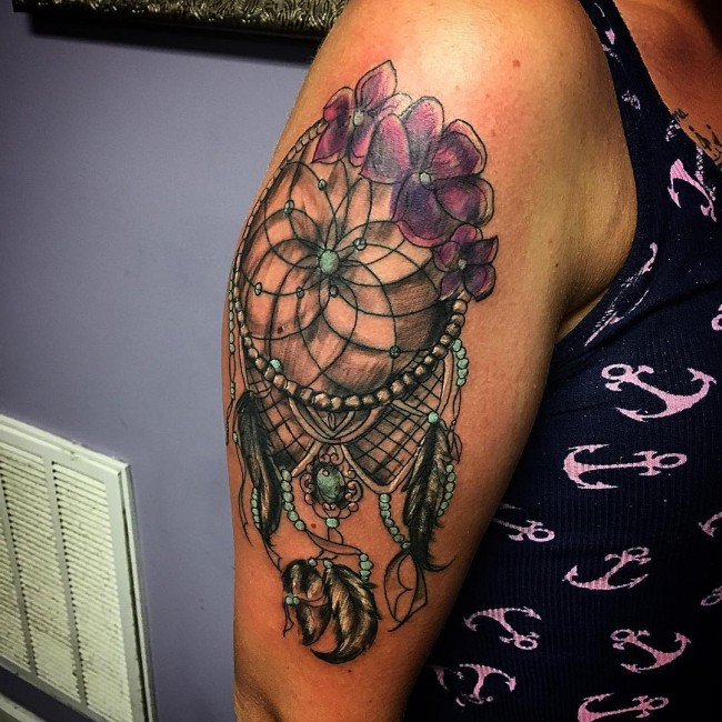 Dream Catcher Tattoo With Names Gorgeous The Origin And Meanings Of The Dreamcatcher Tattoos Tattoos Win