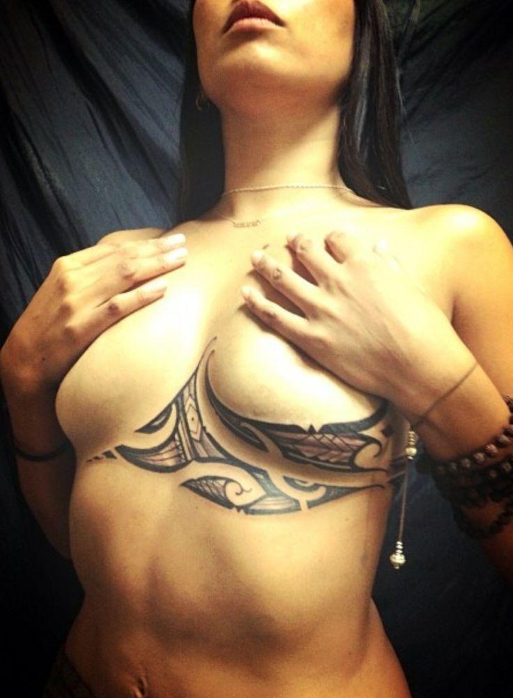 Ladies breast tattoos
