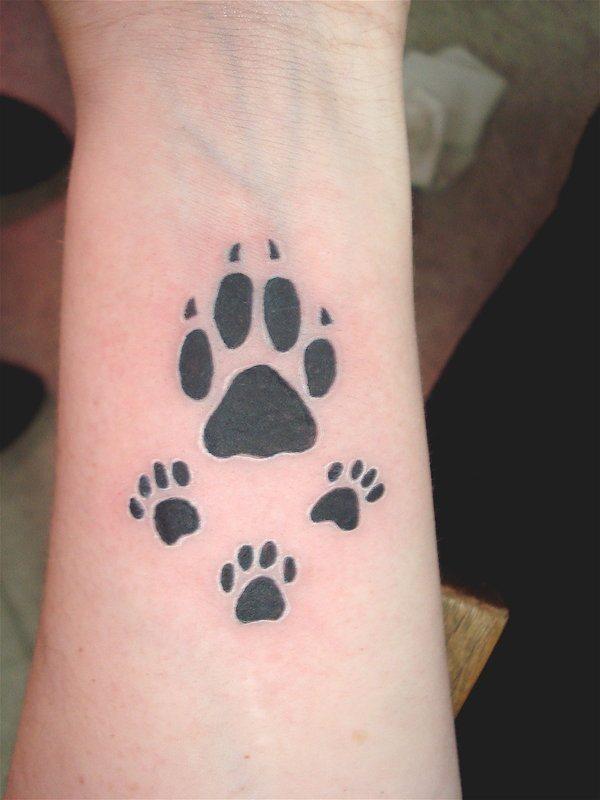 Real Dog Paw Print Tattoos 53241 | ENEWS