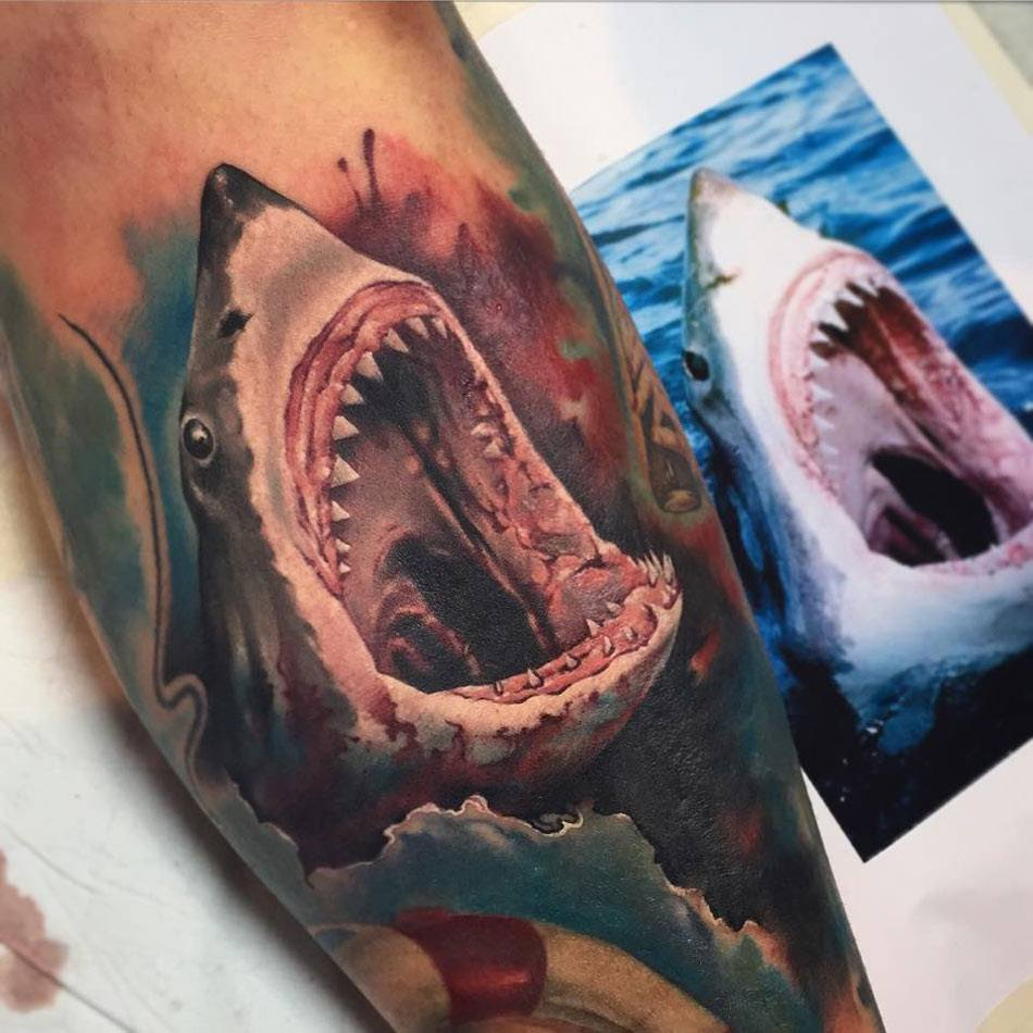 18 shark tattoos that represents strength and primal power tattoos win swipe leftright to see more buycottarizona Choice Image