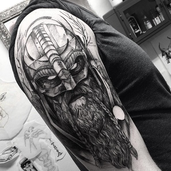 3fa3493a4b97d 23 Popular Warrior Tattoos and Meanings - Tattoos Win