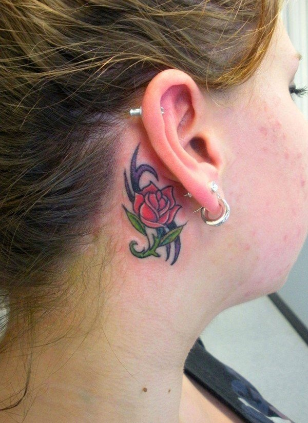 93ae025b0 32 Tattoos Behind the Ear - The Pros and Cons - Tattoos Win