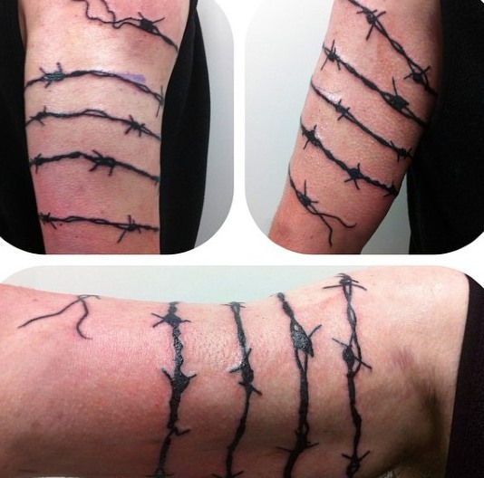 20 Barbed Wire Tattoos With Powerful And Creative Meanings