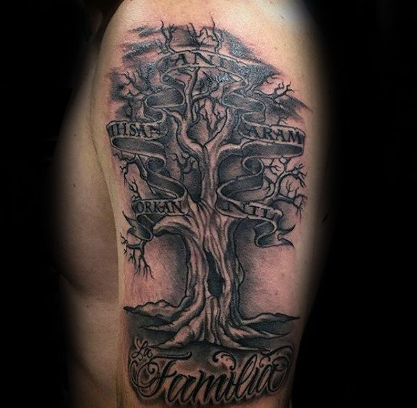 bc40e8f5dcf9e 27 Deep Rooted Family Tree Tattoos and Meanings - Tattoos Win