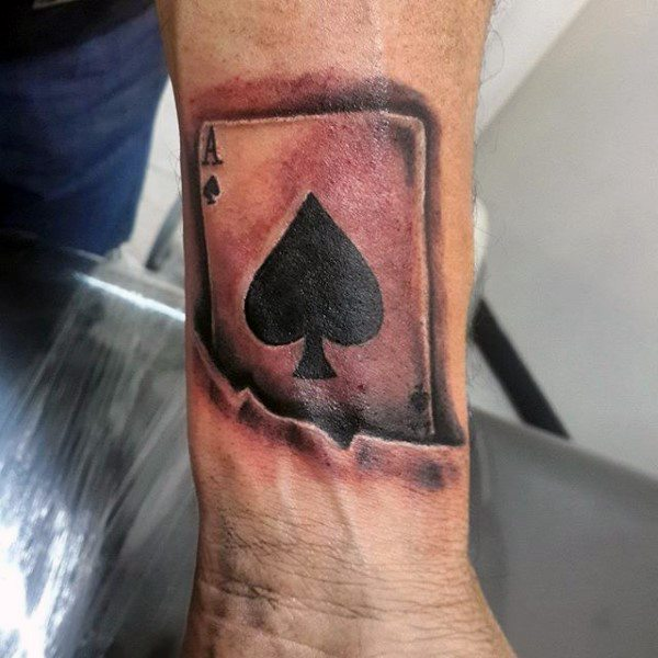24 Awesome Ace Of Spades Tattoos With Powerful Meanings - Tattoos Win