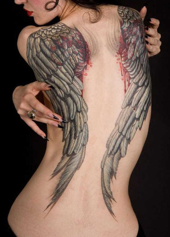 24 Angel Wings Tattoos And Their Deep Spiritual Connection ...