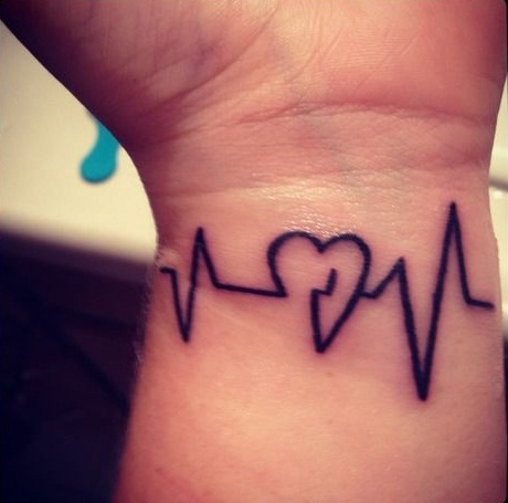 Heartbeat Line Tattoo With Deep Connections And Meanings