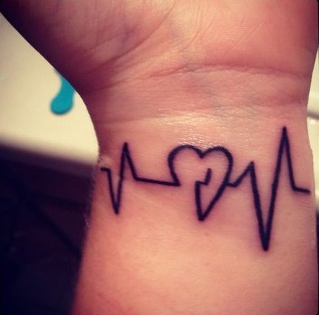 Heartbeat Line Tattoo With Deep Connections And Meanings Tattoos Win