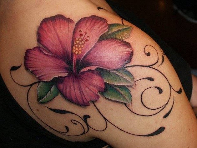 23 Colorful Hawaiian Flower Tattoos With Meanings Tattoos Win