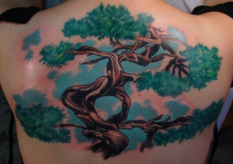 66a3fa48a2031 19 Bonsai Tree Tattoos With Cultural and Diverse Meanings - Tattoos Win