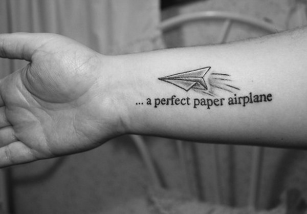 24 Paper Airplanes Tattoos With Fun And Whimsical Meanings