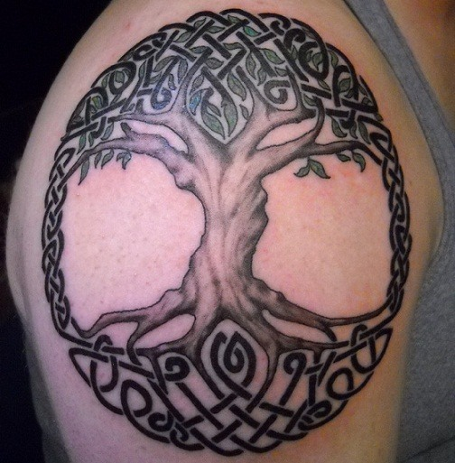 af47193af 19 Eternal Tree of Life Tattoos and Their Unique Meanings - Tattoos Win