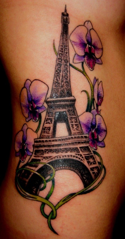 25 eiffel tower tattoos with creative meanings tattoos win rh tattooswin com Eiffel Tower Small Finger Tattoos Paris France Eiffel Tower Tattoo