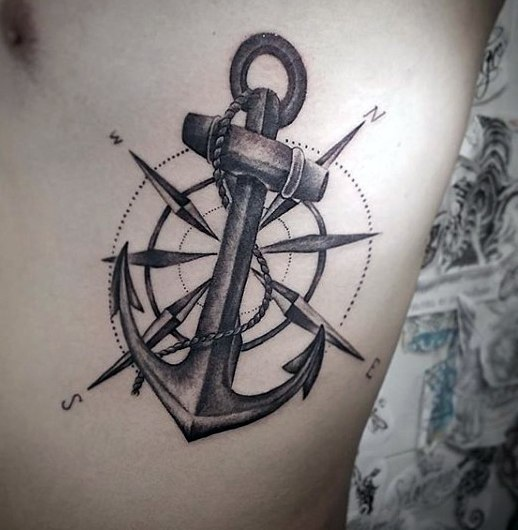 89e95a797 28 Compass Tattoos With The Maritime Meanings - Tattoos Win