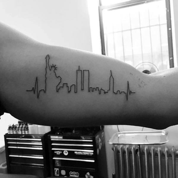 23 NYC Skyline Tattoos With Meanings - Tattoos Win
