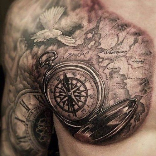 28 compass tattoos with the maritime meanings tattoos win swipe leftright to see more gumiabroncs Images
