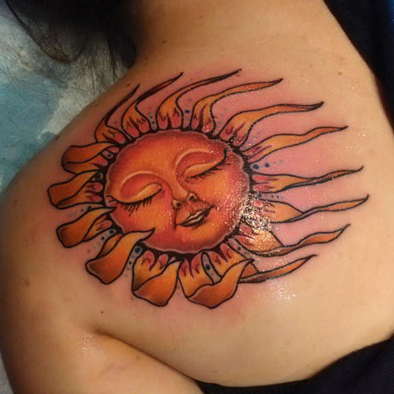 23 Sun Tattoos And Their Powerful And Symbolic Meanings