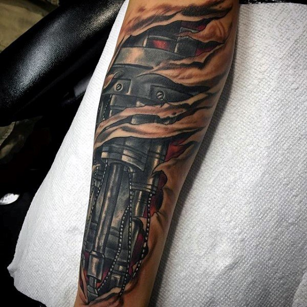 36 Mechanical Arm Tattoos With Meanings - Tattoos Win