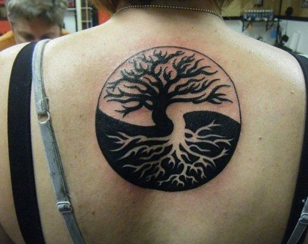Yin Yang Tattoo Dark Skin: Yin-yang-tree-of-life-tattoo-14