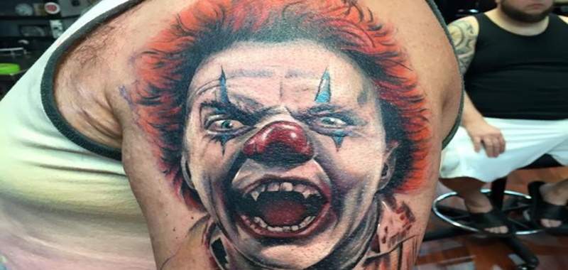 Killer Evil Clown Tattoo Designs