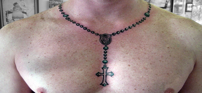 d1108d3fc One of the reasons the rosary beads tattoos have been so popular with body  ink lovers is because it is something both men and women can enjoy and  holds a ...