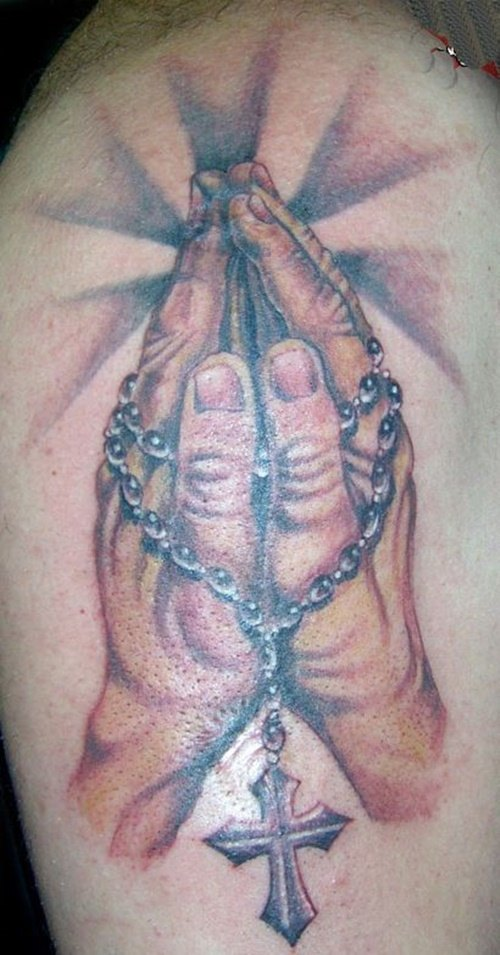 39 praying hand tattoos with personal expression of faith - tattoos win