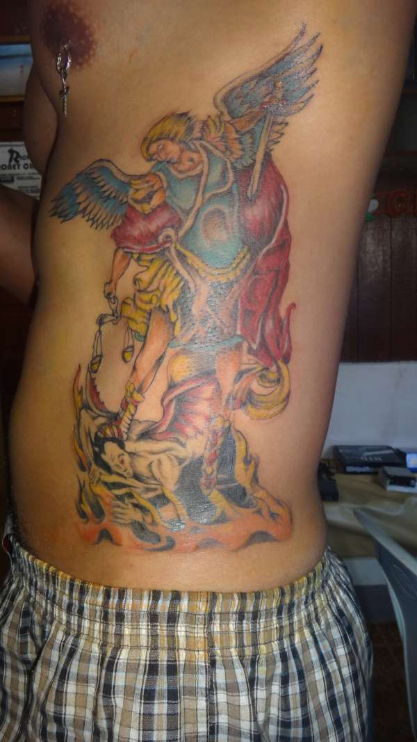 30 Saint Michael Tattoos With Powerful Religious Meanings