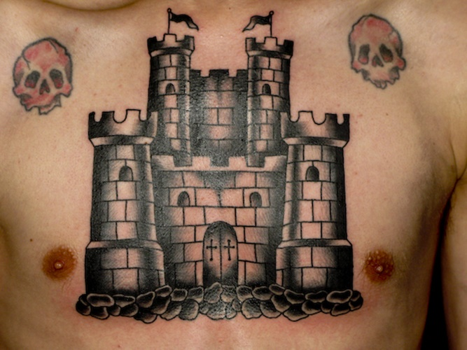 9d8d255fdbd65 54 Castle Tattoos With Historical and Powerful Meanings - Tattoos Win