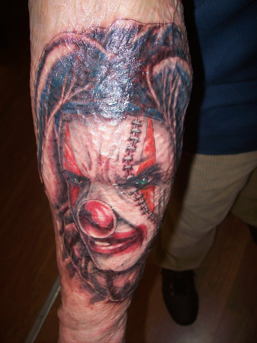 011f819d4 46 Evil Clown Tattoos and Their Mischievous and Dark Meanings - Tattoos Win