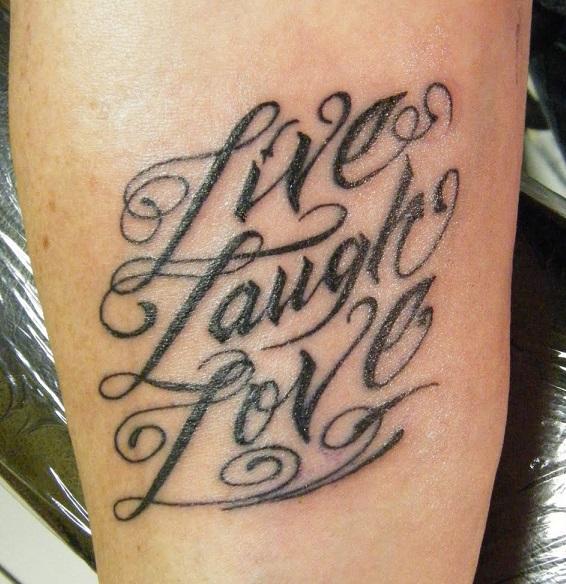 Live laugh love tattoo ideas tattoos win for One love tattoo designs