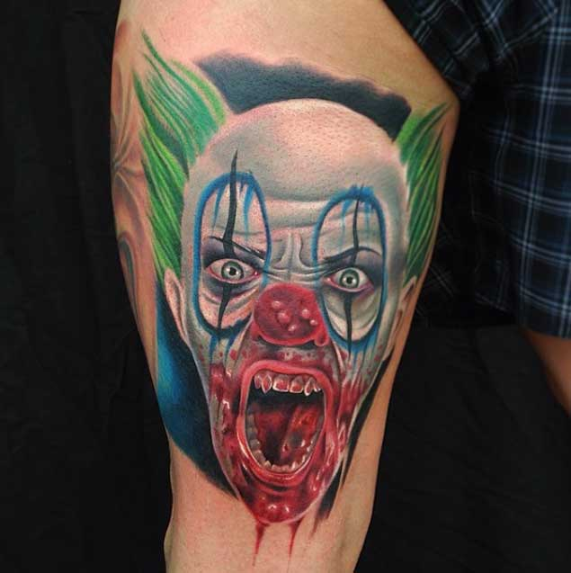46 evil clown tattoos and their mischievous and dark meanings rh tattooswin com evil clown tattoo images evil clown tattoo bali