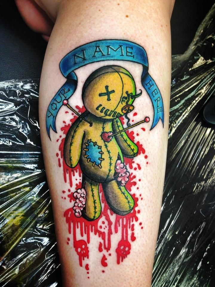 36 Voodoo Doll Tattoos With Mysterious Meaning - Tattoos Win