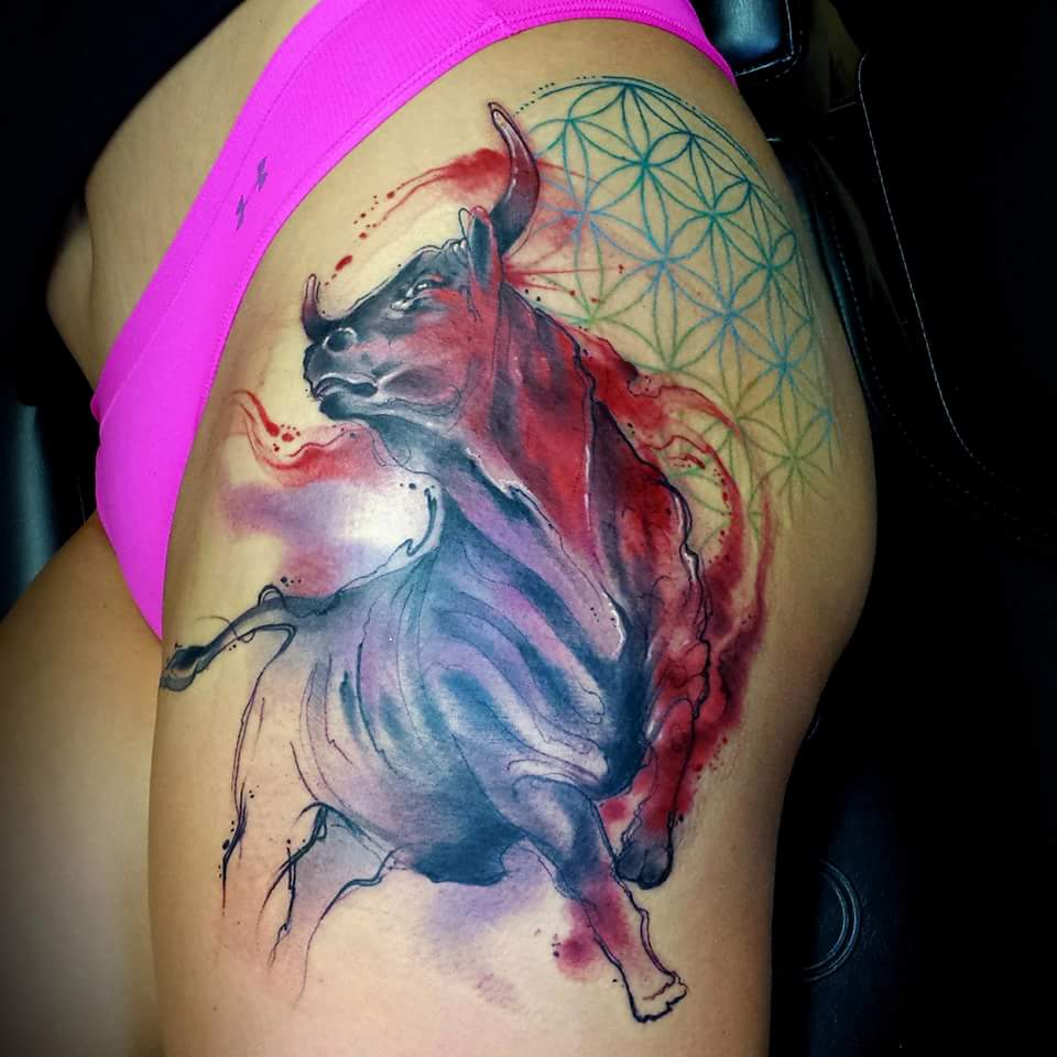 Pics photos taurus tattoos bull tattoo art - Pics Photos Taurus Tattoos Bull Tattoo Art 39