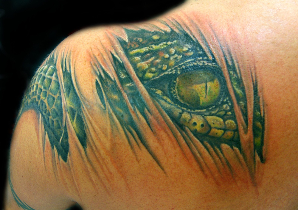 13996006c 39 Alligator Tattoos and Their Powerful Meanings - Tattoos Win