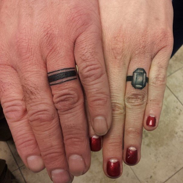 Wedding Ring Tattoos.44 Wedding Ring Tattoos With Diversifying And Creative Meanings