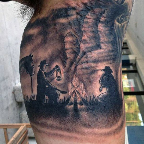 36 cowboy tattoos with memorial and mystique meanings tattoos win rh tattooswin com dallas cowboy tattoo designs cowboy skull tattoo designs