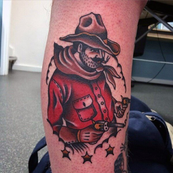 b86d7fd78845e 36 Cowboy Tattoos With Memorial and Mystique Meanings - Tattoos Win