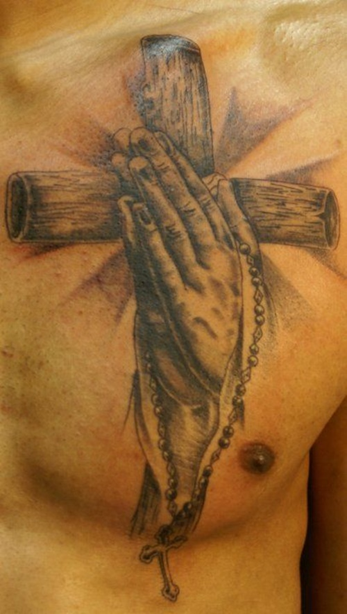 269d2682296a9 39 Praying Hand Tattoos With Personal Expression of Faith - Tattoos Win