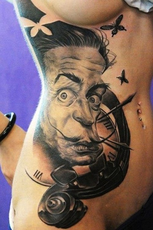4891e78ff 31 Salvador Dali Tattoos With Complicated and Dark Meanings - Tattoos Win